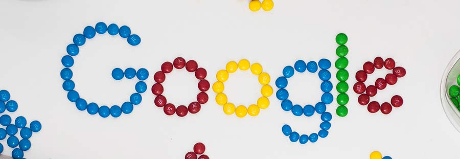 Google made out of m&m's.